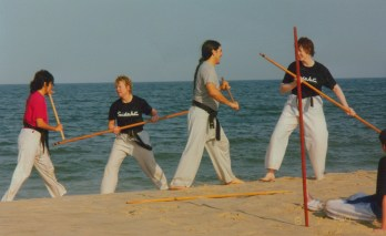 Bo training at the beach